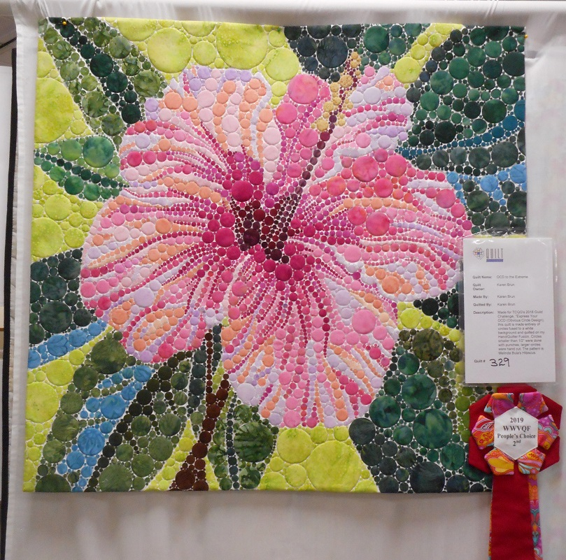 2nd Place Small Quilts Karen Brun OCD to the Extreme